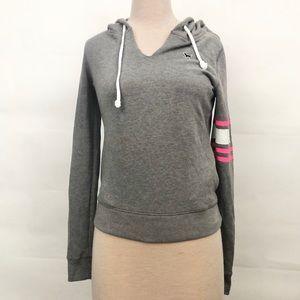 Victoria's Secret PINK striped armband sweatshirt